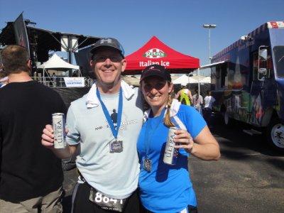 finish of Rock n Roll Dallas half marathon