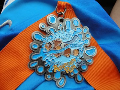 Aquarium run medal