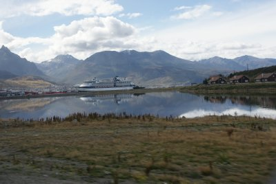 First view of Ushuaia port