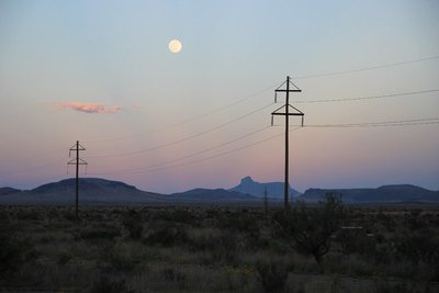 Full moon in Marfa