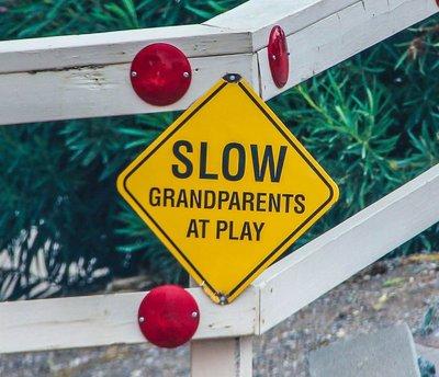 Grandparents at play