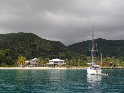Huahine from the boat