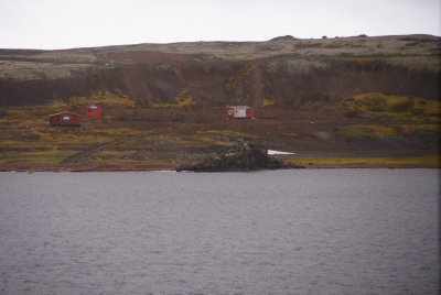 Huts on Maxwell Bay