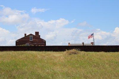walking to Fort Clinch