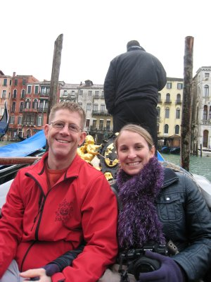 Curt and I in gondola