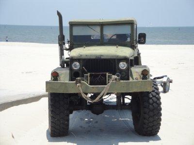 LMTV on gulfport beach