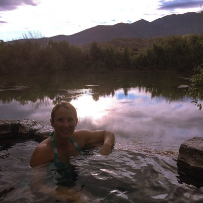 Me in the hot springs