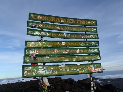 Top of Africa sign