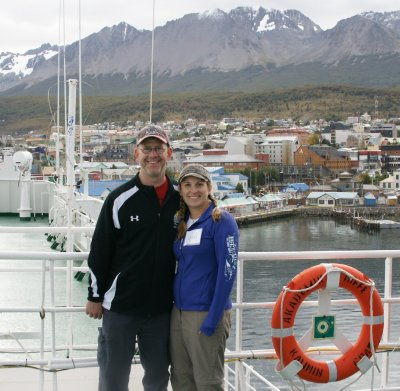 Ushuaia in background