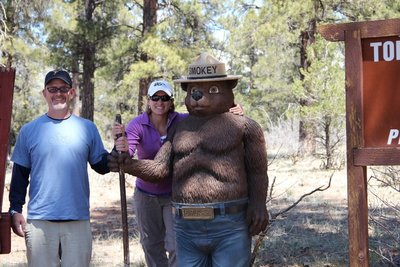 With Smokey the Bear