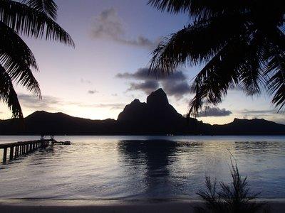 end of day in Bora Bora