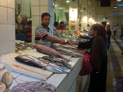 fish market at the souk