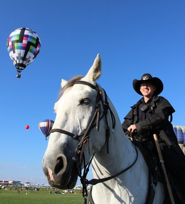 horses enjoying the balloons