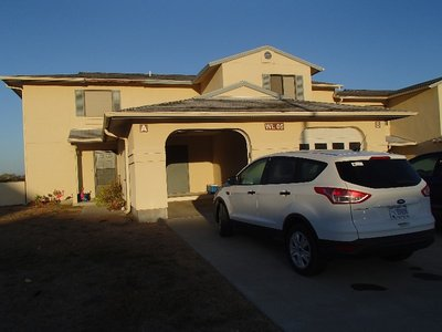 house with new car