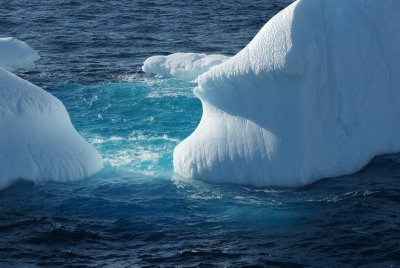 iceberg with blue ice