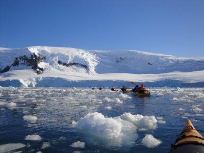 kayaking thru ice