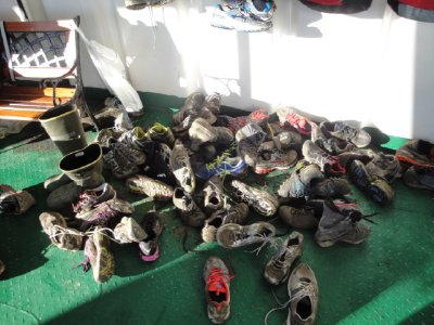 shoes after the run