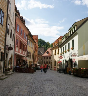 street in cesky krumlov