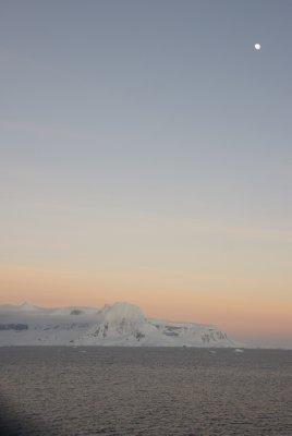 sunrise and moon