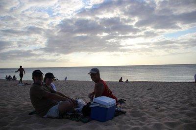 sunset beach picnic