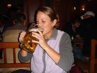 Me with Haufbrauhaus beer