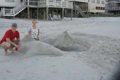 us with the sand art