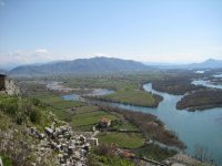 View of Shkodra from the ramparts of the Rozafa Castle