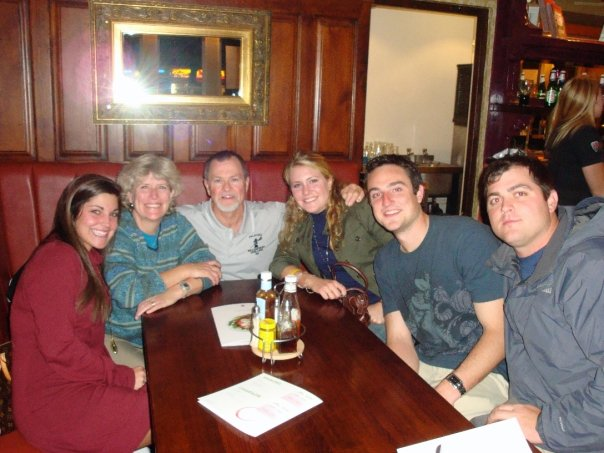 Matt, Amanda, and I with Jess and her parents at the Rectory