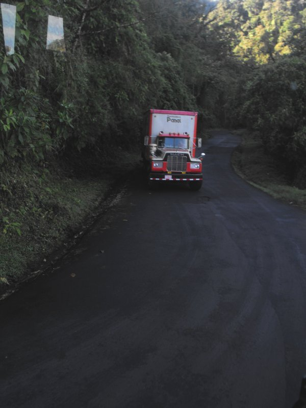 BARVA HIGHWAY truck in switchback