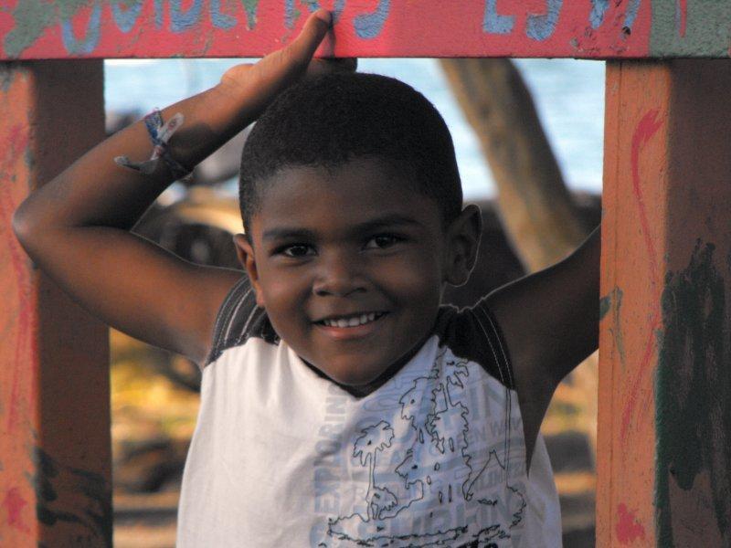 MANZANILLO local boy on the beach