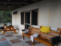 ACCOMMODATION CURU patio of cabin #6