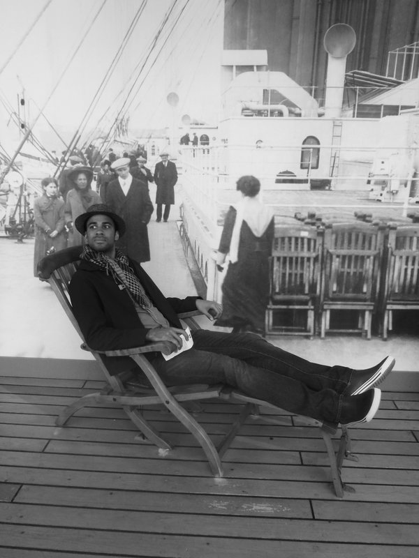 On the deck of the Titanic