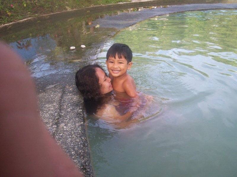 Soaking in The Sulphur hotspring