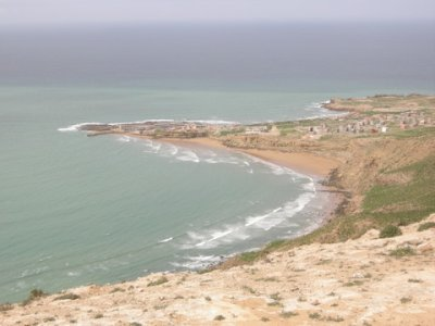 view of Imsouane & The Bay from above