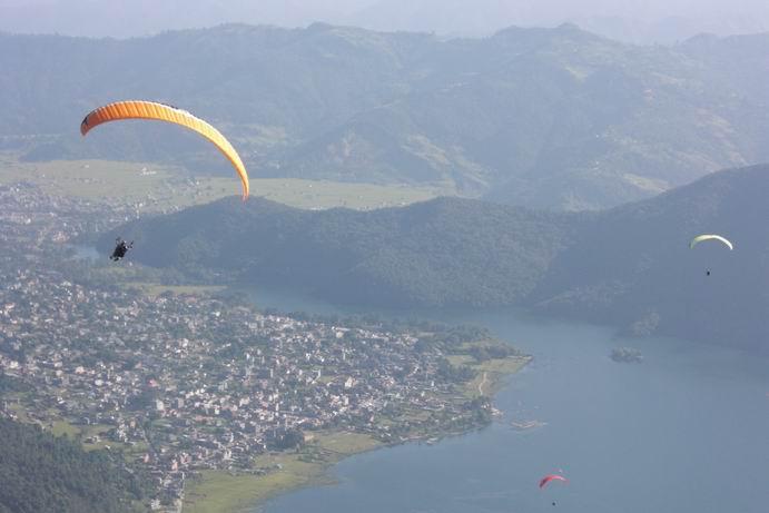 Paragliding From Sarangkot