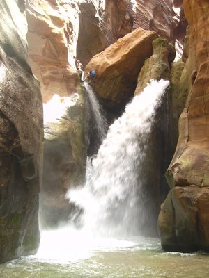 Wadi Mujib: the waterfall