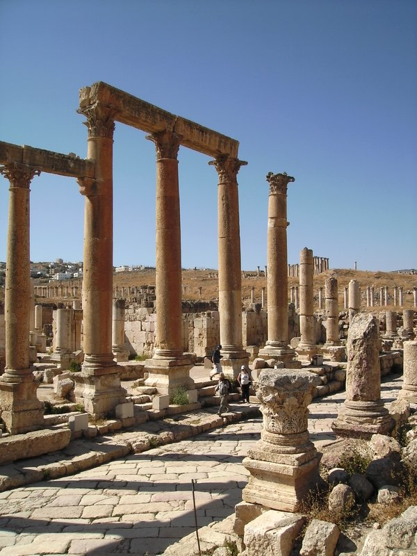 Archaeological site of Jerash (in the north of Jordan)