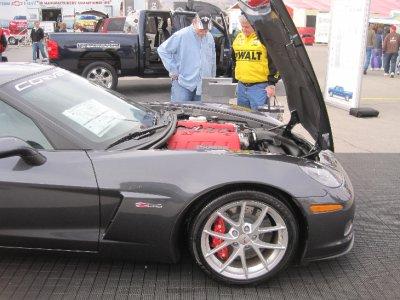 Under the hood of a corvette