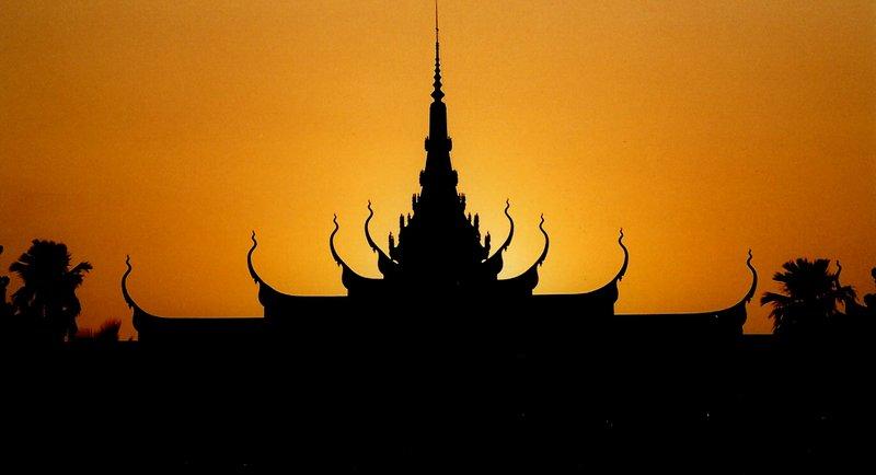 Cambodian sunset in Phnom Penh
