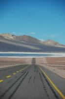 road to the salt flats
