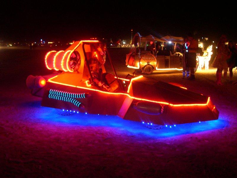 Burning Man 2008 - Art car at night