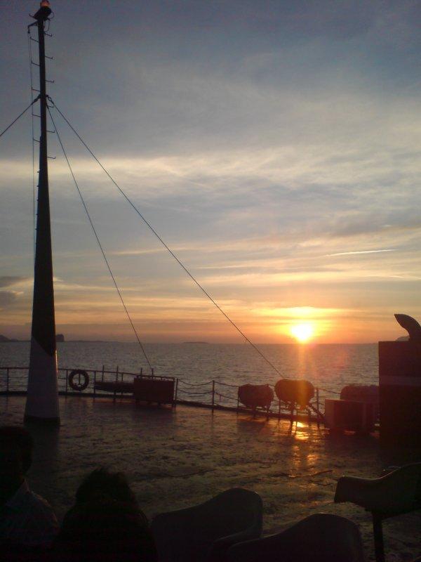 Sun Setting on ferry