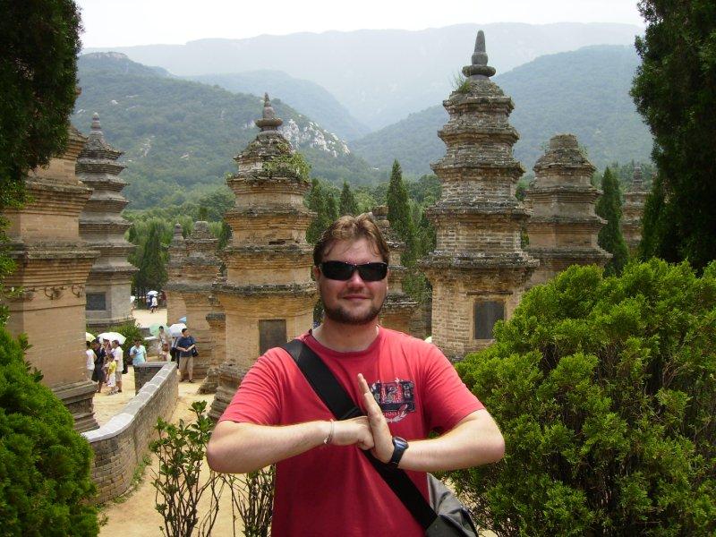 682 China Luoyang - Me at the Shaolin temple