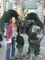 Barcelona Street performer & Me