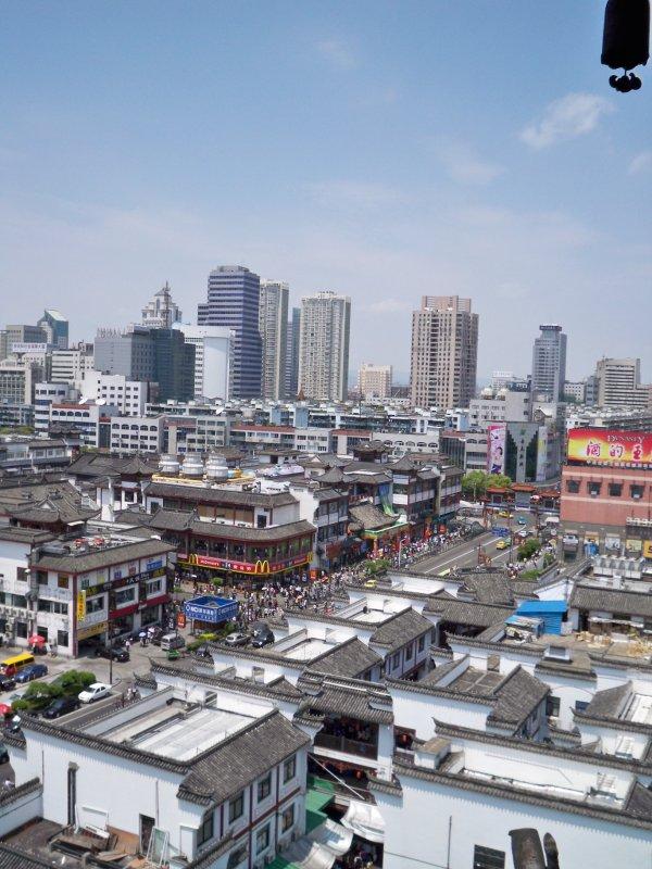 Ningbo as seen from Tianfeng Pagoda