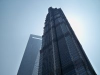 The Jin Mao Tower with the SWFC behind