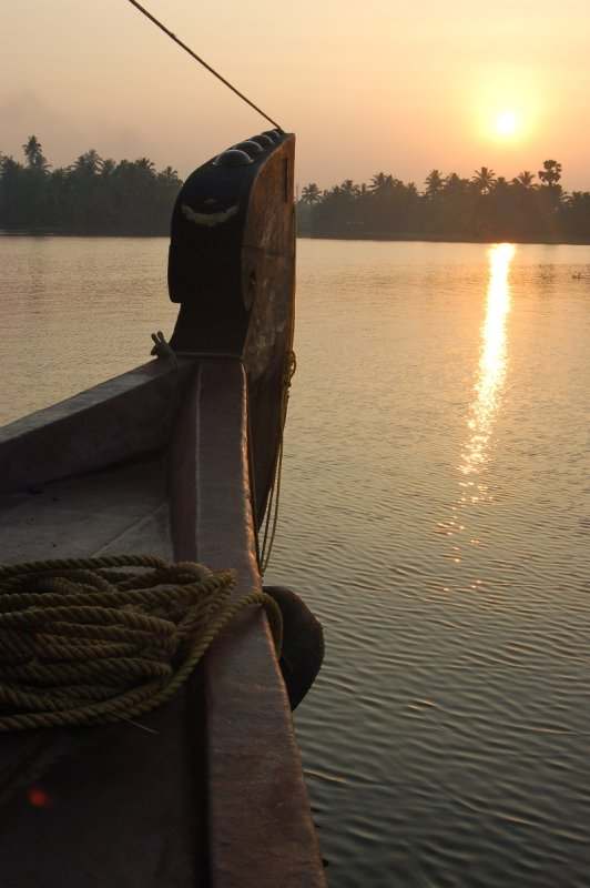 Sunrise on Keralan backwaters