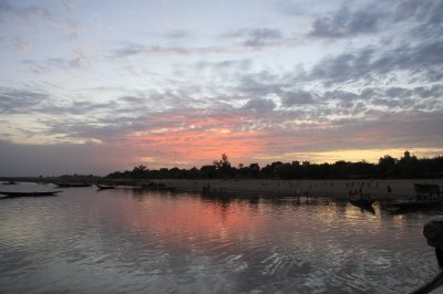 Niger river at sunset from our pinasse