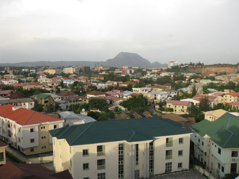 Abuja from the penthouse of the highest point in town