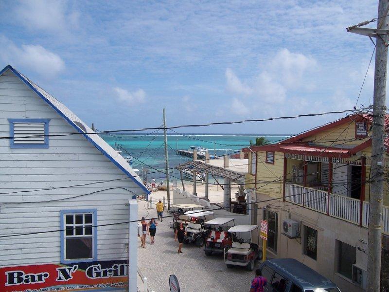 town of San Pedro on Ambergris Caye